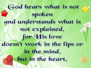 God hears what is not spoken